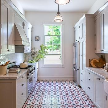 Red And Black Mosaic Kitchen Floor Tiles Design Ideas