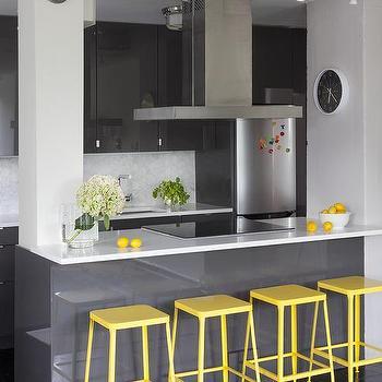 White Lacquer Kitchen Cabinets Design Ideas