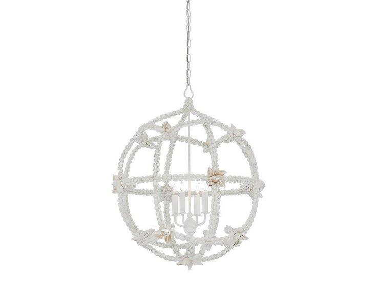 Small gesso white seaforth orb chandelier aloadofball Images