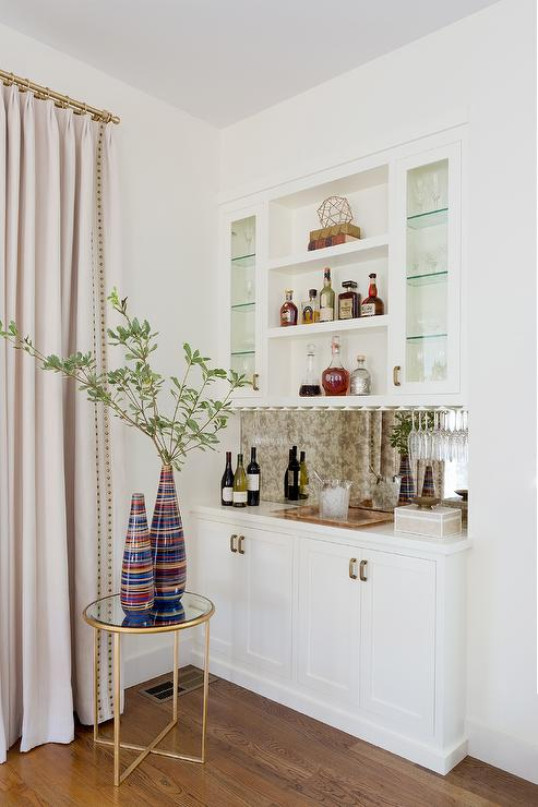 Small Bar With Under Cabinet Wine Glass Rack