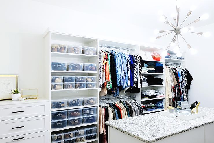 Large Closet see through closet doors design ideas