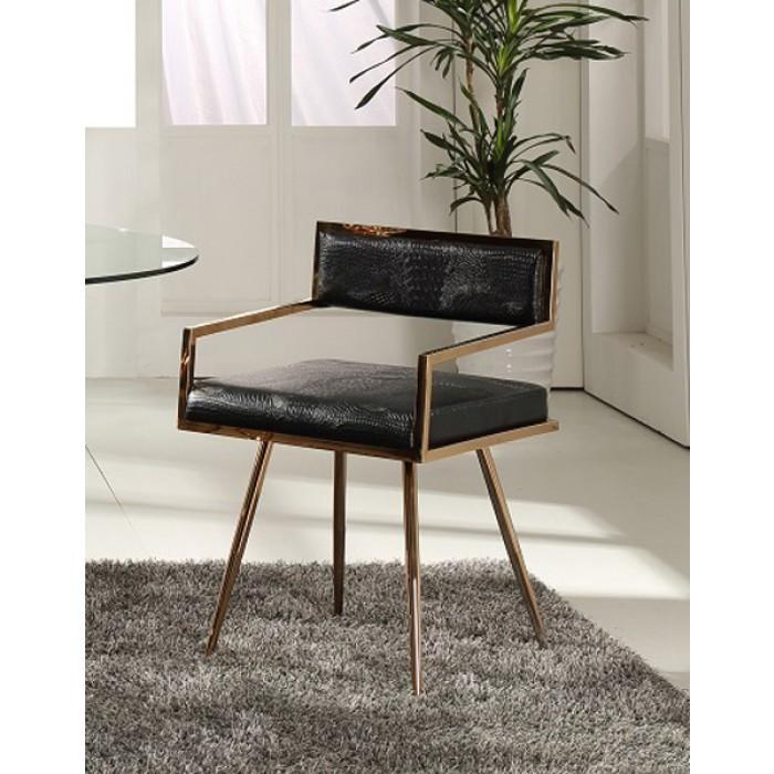 Swell Rosario Modern Black Rosegold Dining Chair Dailytribune Chair Design For Home Dailytribuneorg