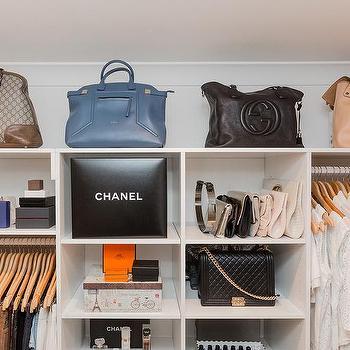 Glam Closet With Purse Shelves