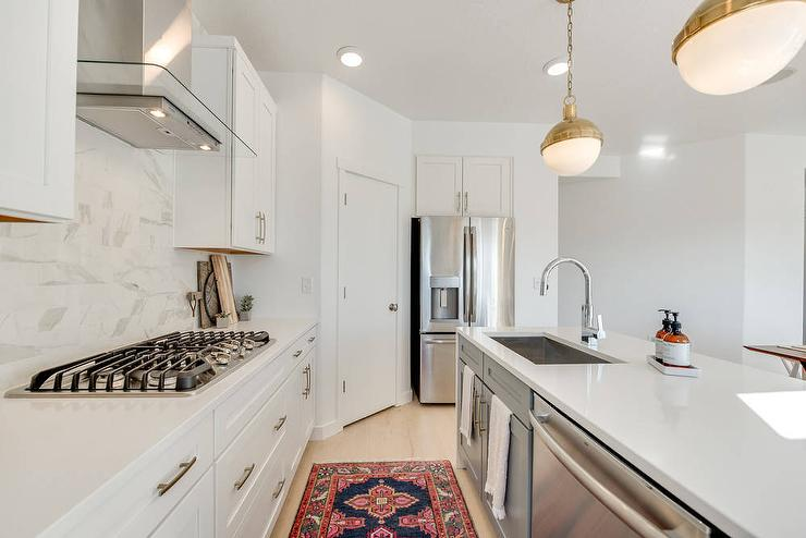 Corner Pantry Next To Refrigerator Transitional Kitchen