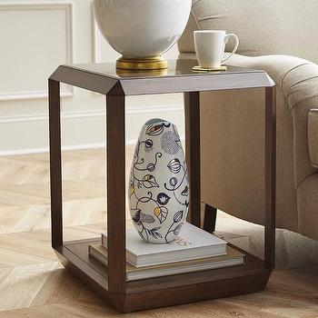 Bronze And Glass Side Table
