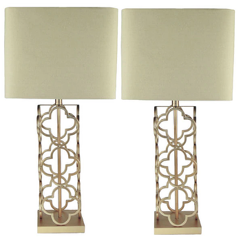 Quatrefoil Lamp - Look 4 Less and Steals and Deals.