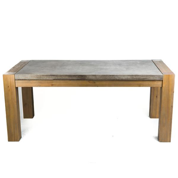 Andi Wood Concrete Dining Table - Wood and stone dining table