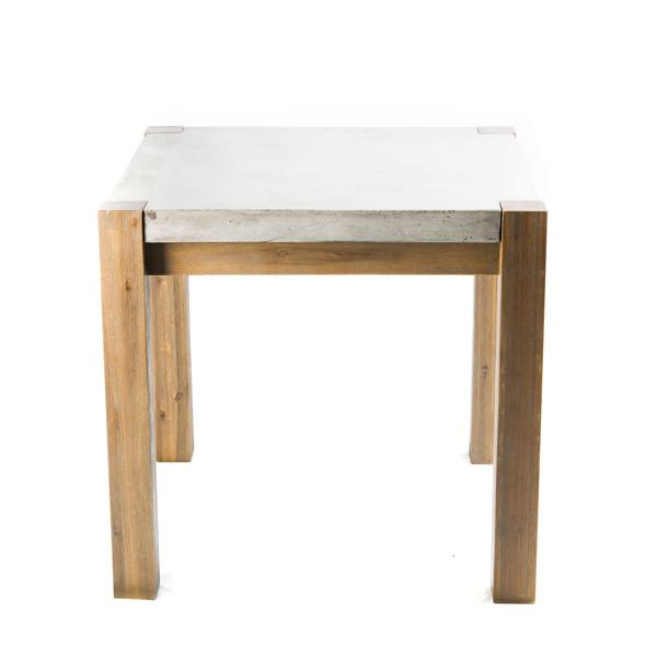 Rustic Kitchen Rectangular Dining Table west elm : two toned wood chic breakfast slab concrete table from www.decorpad.com size 600 x 600 jpeg 16kB
