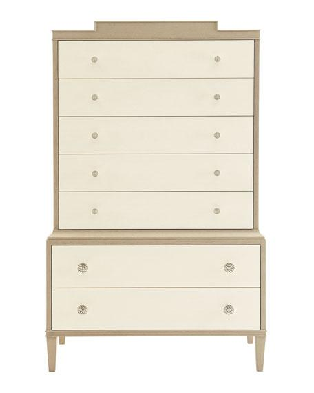 Ophelia Tall Cream 7 Drawer Chest