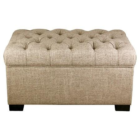 Sensational Taupe Tufted Storage Ottoman Andrewgaddart Wooden Chair Designs For Living Room Andrewgaddartcom