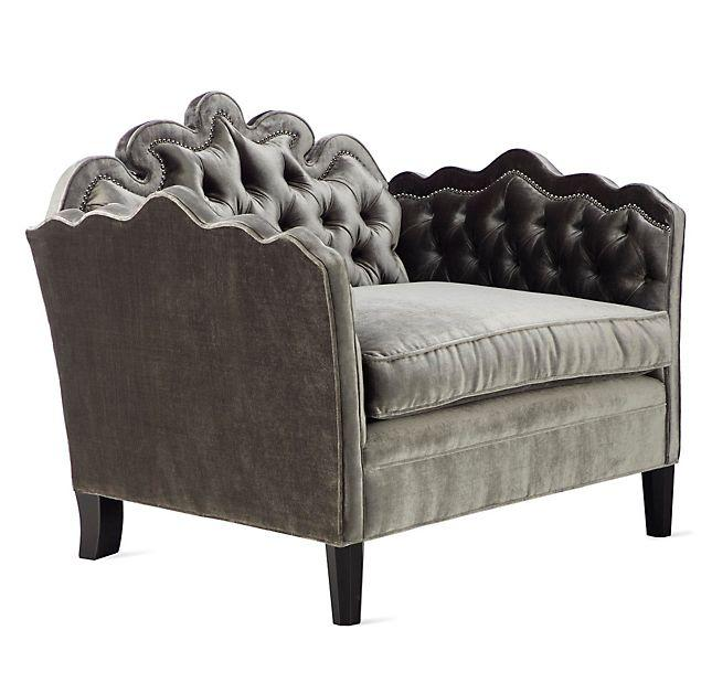 Ophelia Gray Tufted Chair