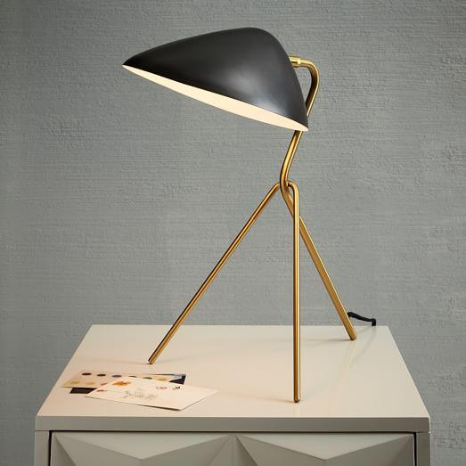 Curvilinear Mid Century Table Lamp