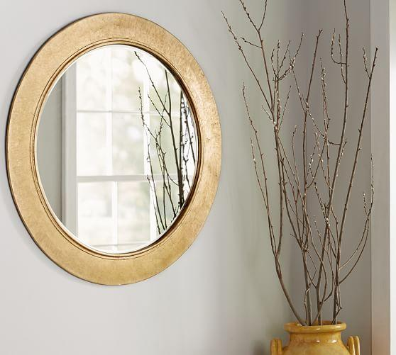 Golden Leaf Wreath Frame Wall Mirror