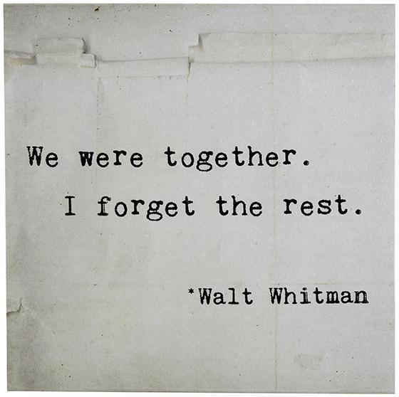 Use Accessories To Link Your Island To The Rest Of Your: We Were Together I Forget The Rest Canvas Wall Art
