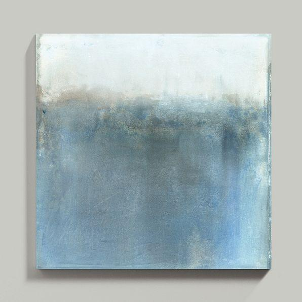Minds Eye Blue Gray Abstract Wall Art