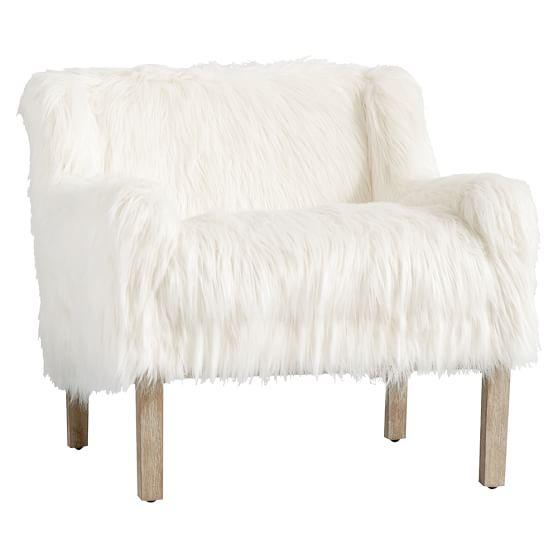 white faux fur chair White Faux Fur Alex Chair white faux fur chair