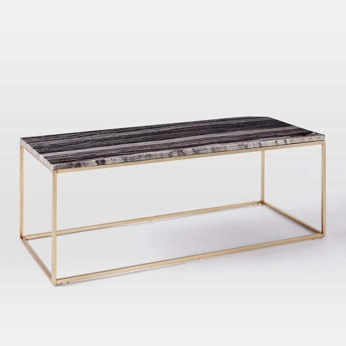 Mira Black Marble Top Coffee Table