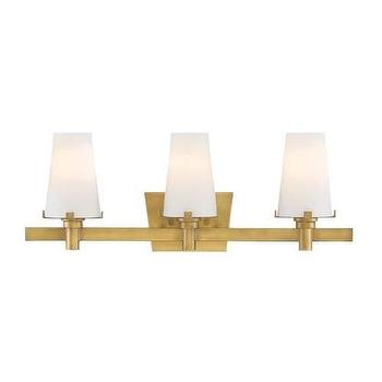 Bathroom Light Fixtures Glass Shades gus three shade vanity light