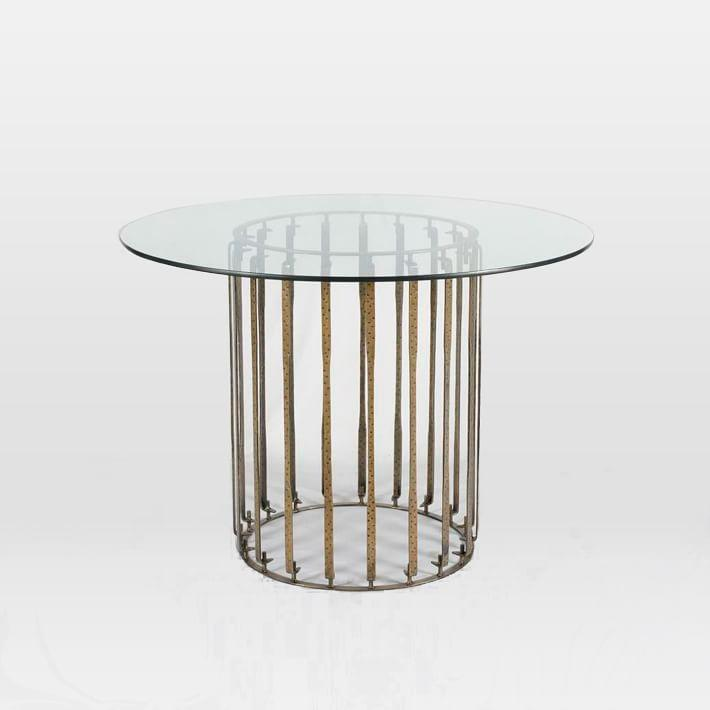 Glass Metal Tulip Bistro Table View Full Size