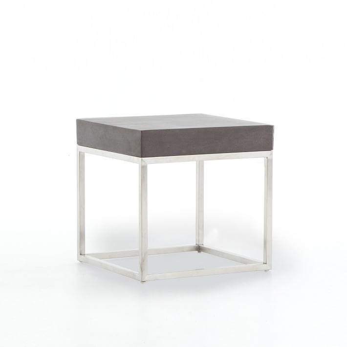 Ashton Lava Stone Top Steel Side Table