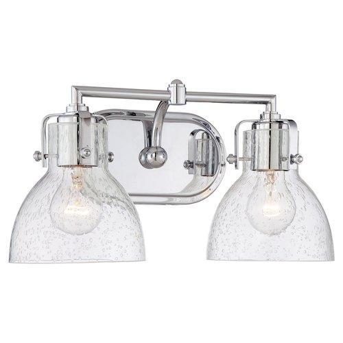 Minka Lavery Clear Dome Glass Bathroom Vanity Light - Minka bathroom vanity lights