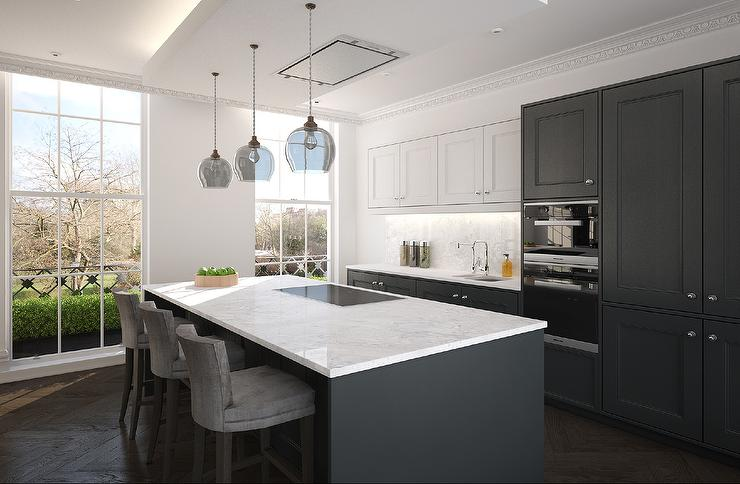 kitchen white upper cabinets dark lower white cabinets and gray lower cabinets 22186