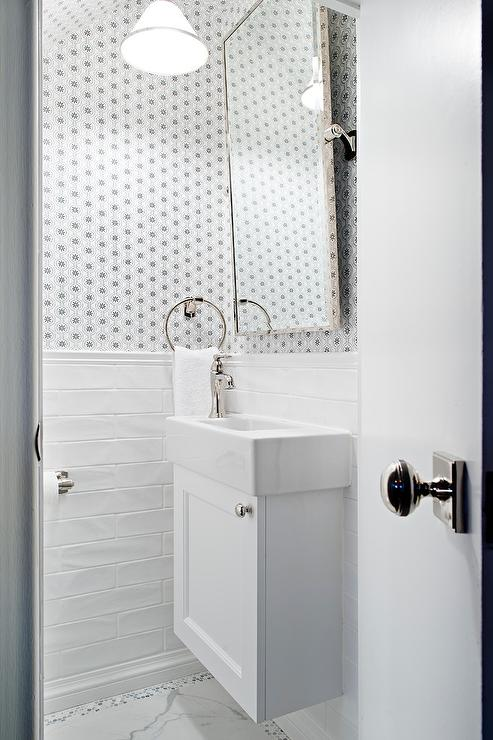 gold tone bathroom sink faucets. Small white bathroom features a floating cabinet fixed to long  wall tiles and fitted with Duravit sink polished nickel faucet positioned Gold Tone Pivot Mirror Black Bowl Sink Transitional Bathroom