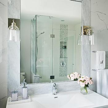 Sphere shaped frosted glass sconce design ideas page 1 - Bathroom vanity with frosted glass doors ...