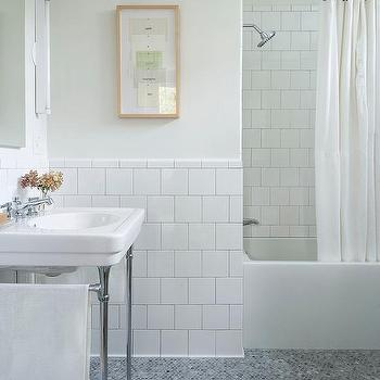 Bathroom White Square Porcelain Tiles Design Ideas - White square tile bathroom