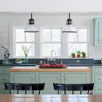 Light Blue Kitchen light gray kitchen island design ideas