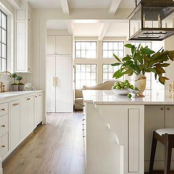 Ornate Kitchen Island Trim Moldings Design Ideas