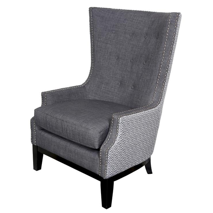 Bristol Tall Silver Wingback Chair