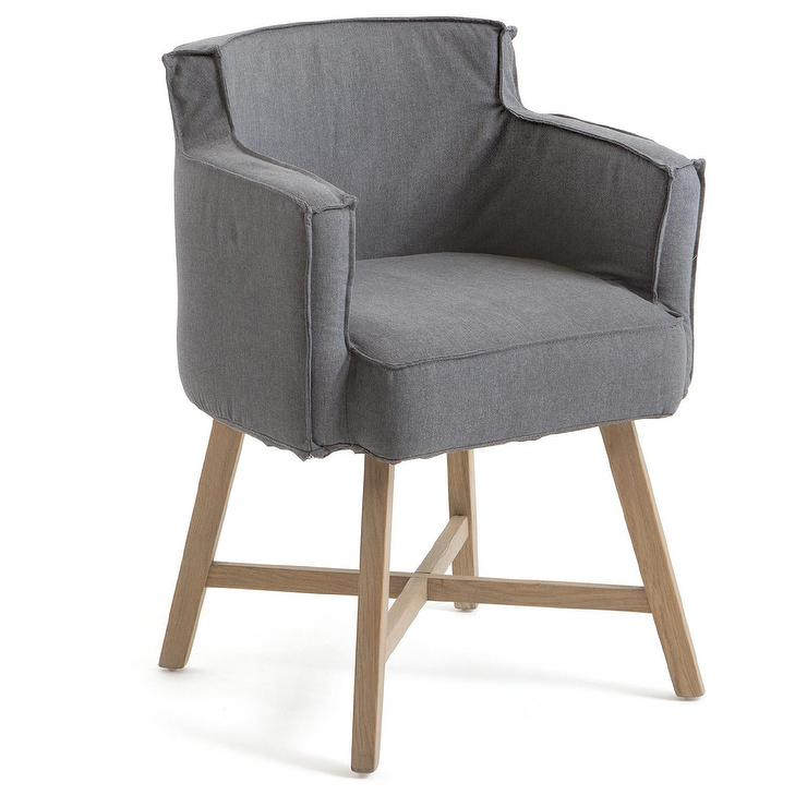 Great Hip Vintage Grey Cotton Stowe Dining Chair