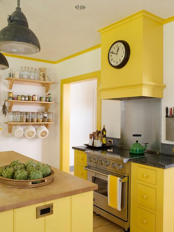 Attirant Yellow Kitchen Cabinets