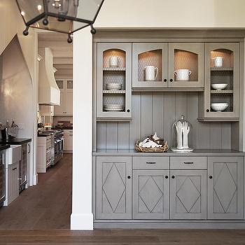 Merveilleux Gray Butler Pantry With Chicken Wire Doors