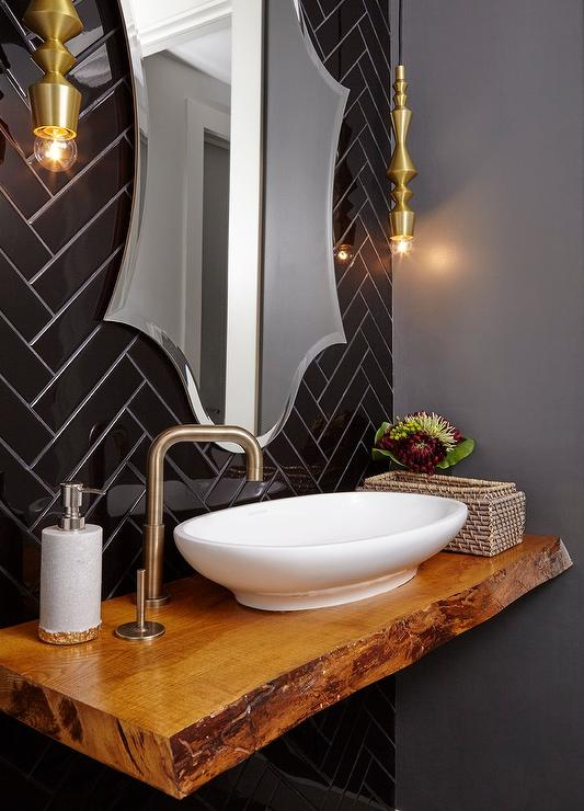 powder room sink faucets. view full size  Chic contemporary powder room Floating Powder Room Sink Vanity with Modern Vessel