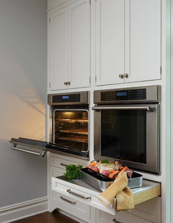 Stainless Steel Pull Out Shelf Below Wall Oven