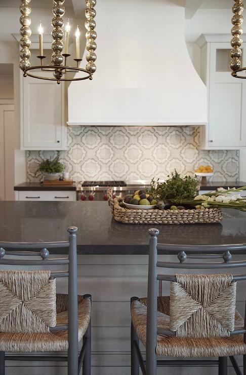 White And Gray Mosaic Kitchen Backsplash Tiles