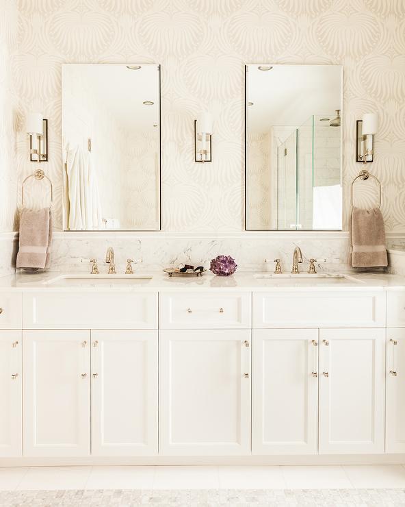 Purple Bathroom With Purple Lotus Wallpaper