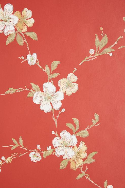 Cherry Blossom Red Wallpaper