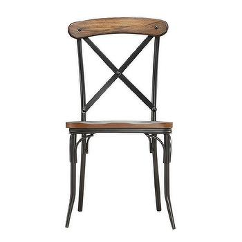 Cross Back Light Brown Birch Dining Chair Overstock Com