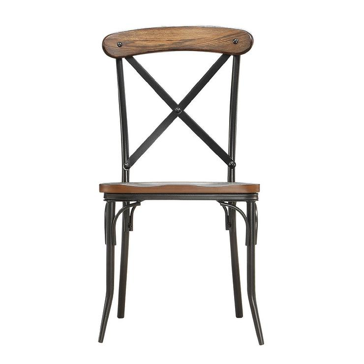 Awesome Nelson Industrial Rustic Cross Back Dining Chair Alphanode Cool Chair Designs And Ideas Alphanodeonline