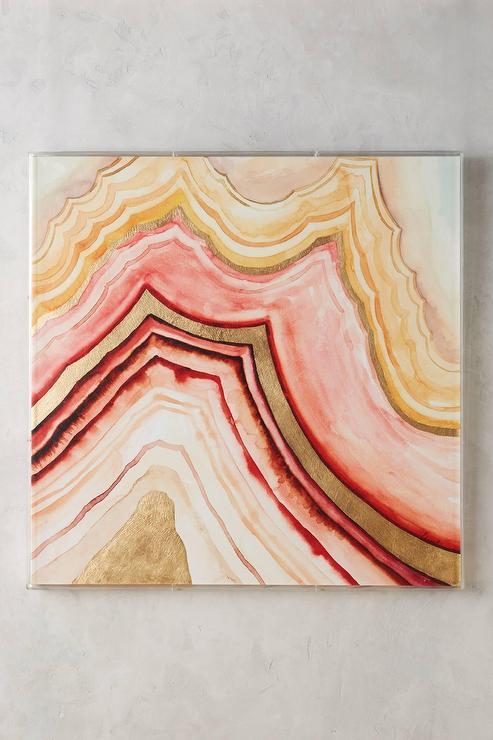 Golden Agate Rose Tone Wall Art