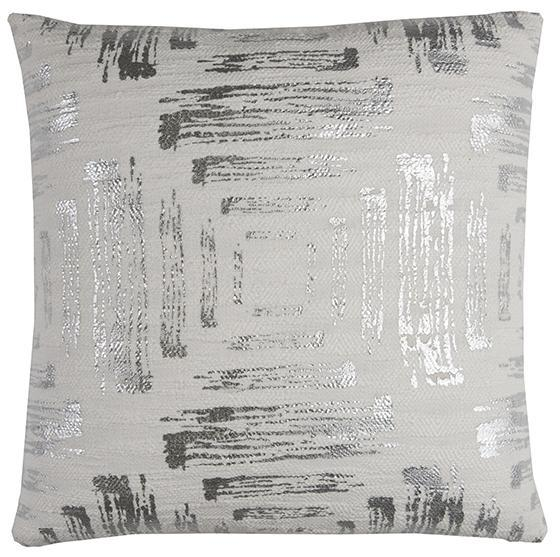 Decorative Metallic Square Accent Pillow