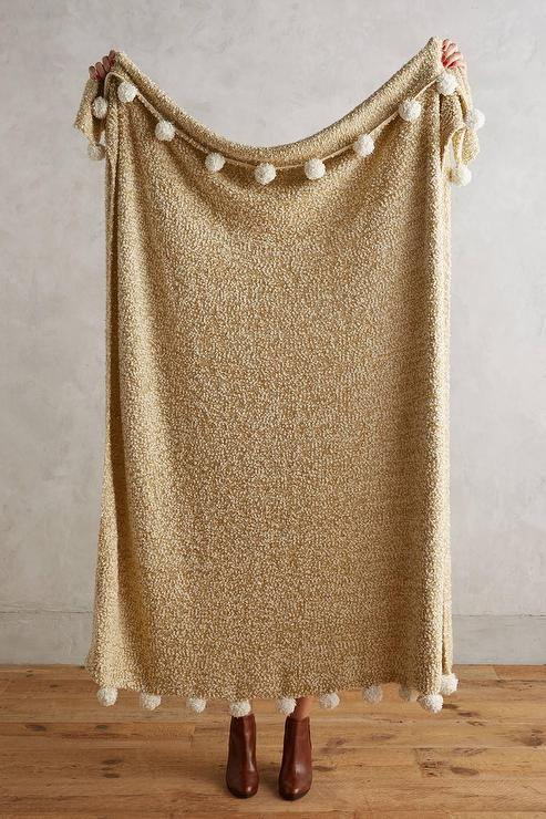 Nate Berkus 195 194 162 195 162 195 194 162 Woven Knit Gold Throw At Hsn Com