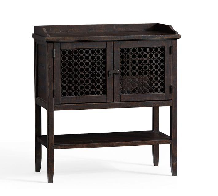 - Georgia Wood Lattice Door Bar Cabinet