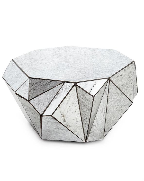 Coffee table with base in metal style origami and tempered glass ... | 740x592