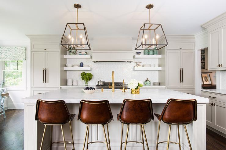 light gray cabinets with honed carrera marble transitional kitchen benjamin moore coventry. Black Bedroom Furniture Sets. Home Design Ideas