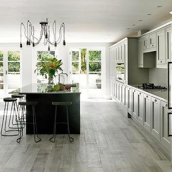 Light Grey Kitchen Dark Cabinets light gray kitchen cabinets with dark gray island - transitional