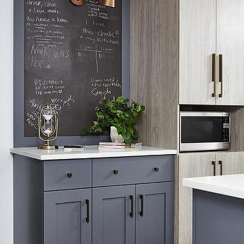 gray framed kitchen chalkboard - Kitchen Chalkboard Ideas